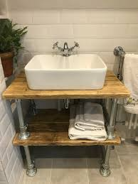 rustic industrial sink vanity unit