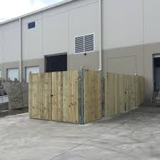 8 Tall Dumpster Fence With Gates Aaa Fence Charleston