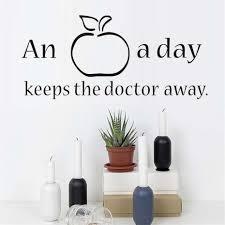sebuah apel sehari membuat dokter pergi kebugaran dinding gaya