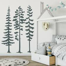 Trees Wall Decal Woodland Nursery Wall Decor Sticker Pine Tree Forest Vinyl Wall Sticekrs Bedroom Home Decoration Pretty Wall Decals Princess Wall Decals From Onlinegame 11 75 Dhgate Com