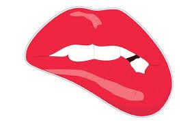 Biting Lips Decal Nostalgia Decals Retro Vinyl Stickers Nostalgia Decals Online
