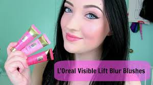 new l visible lift blur blushes