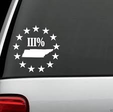 For Tennessee 3 Percent Threeper State Decal Sticker Truck Suv Patriot Car Styling Car Stickers Aliexpress