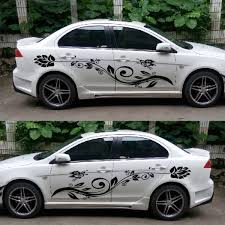 Lovely Car Styling Butterfly And Flower Car Decal Vinyl Sticker Body Decals Side Stickers Lotus Flowers Wish