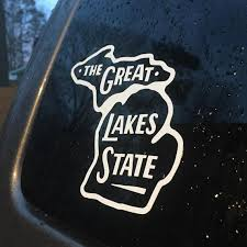 Michigan Car Decal The Great Lakes State Decal Window Etsy