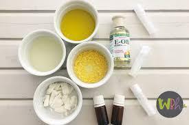 homemade lip balm recipe with citrus