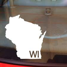 Wisconsin Car Decal State Decal Wisconsin Decal Laptop Decal Laptop Sticker Car Sticker Car Decal Vin Laptop Decal Stickers Laptop Decal Coupons By Mail