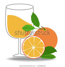 slice orange glass vector designhalf