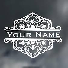 Custom Mandela Flower Name Name Vinyl Decal Wickedgoodz