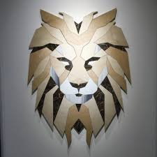 beige and brown lion head art free