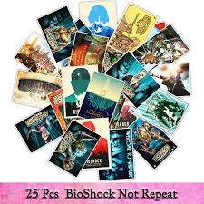 25pcs Bioshock Game Stickers Waterproof Vinyl Poster Sticker Cars Trucks Vans Walls Laptop Decal Luggage Wall Toy Stickers Buy At The Price Of 1 94 In Aliexpress Com Imall Com