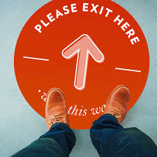 Exit Here 24 Removable Floor Sticker Sprout Marketing