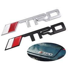 Car 3d Metal Trd Logo Sticker Car Emblem Badge Decal Sticker Fit For Toyota Decoration Buy At A Low Prices On Joom E Commerce Platform