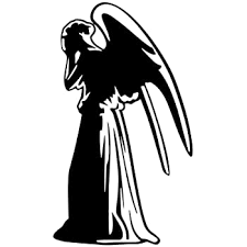 Amazon Com Bargain Max Decals Weeping Angel Whovian Who Sticker Decal Notebook Car Laptop 5 5 Black Automotive
