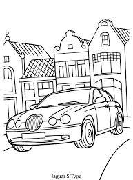 Print Jaguar S Kleurplaat Kleurplaten Zwart Wit Mini Cooper