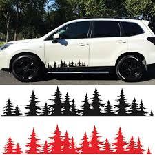 2x Pine Tree Forest Universal Car Vinyl Decal Sticker Mountains Coast Glossy Ebay