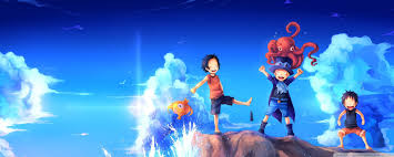 one piece dual monitor wallpapers top