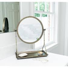 3r studios round mirror on metal stand