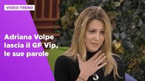 Adriana Volpe lascia il GF Vip: le sue parole - Grande Fratello ...