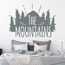Mountain Range Wall Decal Scene Nz Amazon Design For Bedroom Bike Rocky Vamosrayos
