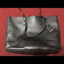 used black leather tote
