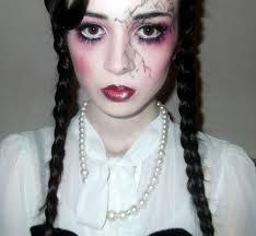 creepy porcelain doll make up creepy