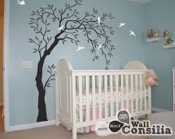 Nursery Tree Wall Decals Willow Tree Sticker Large Wall Art Etsy