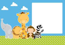 Kit Imprimible Animalitos Selva Gratis Baby Showers De Animales