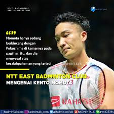 badminton talk on klub pribadi momota ntt east