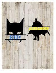 Batman Name Decal Split Batman Decal Batman Batman Yeti Etsy