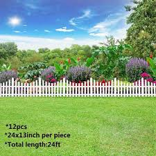 12pcs Plastic Garden Border Fencing Fence Pannels Outdoor Landscape Decor Edging Yard Easy Install Insert Ground Type 610x330mm Fencing Trellis Gates Aliexpress