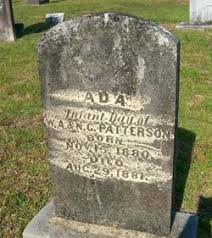Ada Patterson (1880-1881) - Find A Grave Memorial