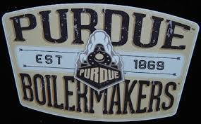 Purdue Retro Badge Distressed Decal