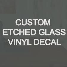 Vwaq Custom Etched Glass Vinyl Personalized Window Decal Wayfair