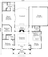 small u shaped house plans first