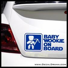 Baby Wookiee On Board Star Wars Inspired Fan Art Vinyl Wall Decal Star Wars Inspired Vinyl Wall Decals Wookie