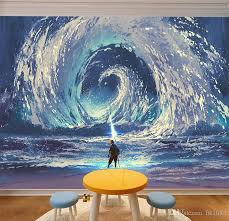 Sea Wave Mural Renovate Wall Abstract Painting Summoned The Sea Tornado Home Decoration Creative Personalized Custom 3d Wallpaper Poster Love Wall Stickers Make Your Own Wall Decals From Fst1688 11 4 Dhgate Com