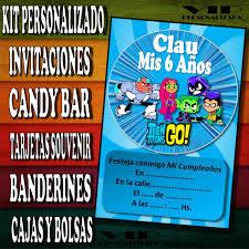 Kit Imprimible Jovenes Titanes Cumpleanos Bautismos 280