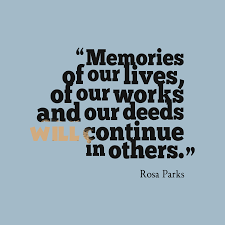 rosa parks quote about memory