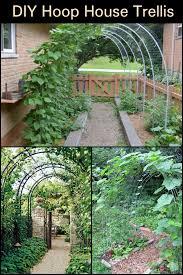 diy hoop house trellis diy garden