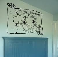 Map Of Neverland Wall Decals Nursery Wall Decals Neverland Nursery