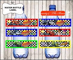 Blaze And The Monster Machines Etiquetas Para Botella De Agua