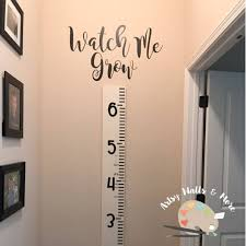 Watch Me Grow Vinyl Decal Sticker For Growth Chart Ruler Add Etsy Childrens Growth Charts Growth Chart Ruler Vinyl Wall Decals