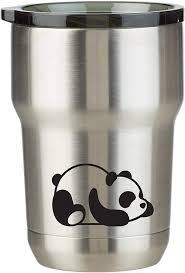 Amazon Com Panda Bear 12 Oz Stainless Steel Wine Coffee Water Tumbler With Decal Rose Gold 12 Oz Tumblers Water Glasses