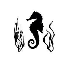 Seahorse Vinyl Decal Seahorse Decor Tropical Beach Etsy