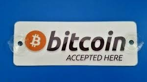 1x Bitcoin Accepted Here Window Removable Sign Laminated Btc Decal Sticker Ebay