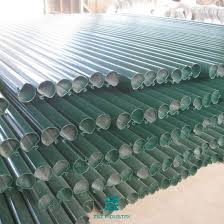 China D Type Metal Fence Poles 48mm X 1700mm Metal Posts For Wire Fencing China Fence Panel Barbed Wire Fence