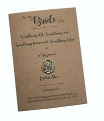 poem lucky sixpence gift for bride real