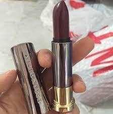 matt lipstick dark red purplish