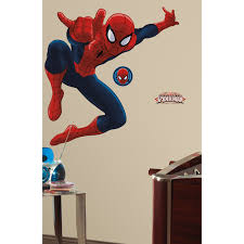 Ultimate Spiderman Peel Amp Stick Giant Wall Decal Walmart Com Walmart Com